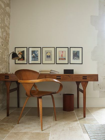 10 Secrets of Second-hand Furniture Shopping :  Mediterranean Home Office by Susan Fisher Photography