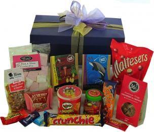 Something Naughty Hamper, NZD$69.95 from Giftbarn.co.nz #hampers #gourmethamper #gifthamper #snacks #confectionery #chocolate #GiftBarn
