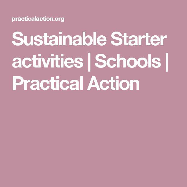 Sustainable Starter activities   Schools   Practical Action