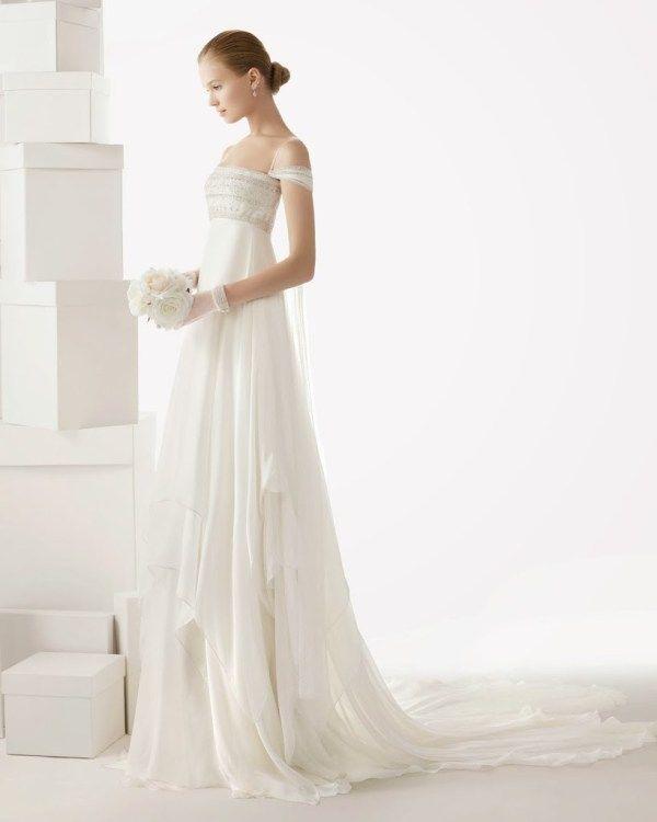 abito da sposa 2014 stile medievale Rosa Clarà Celia e temi nozze