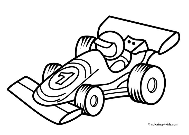 Racing Car Transportation Coloring Pages For Kids Printable Free