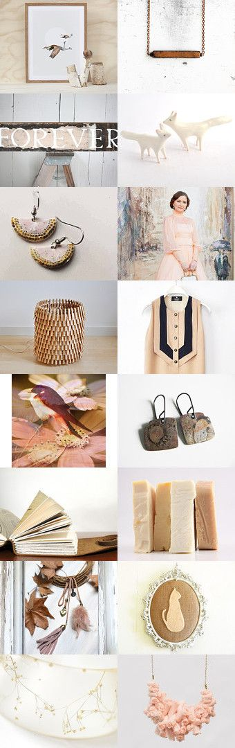 Soft pink and honey by Alexa Brains on Etsy--Pinned with TreasuryPin.com