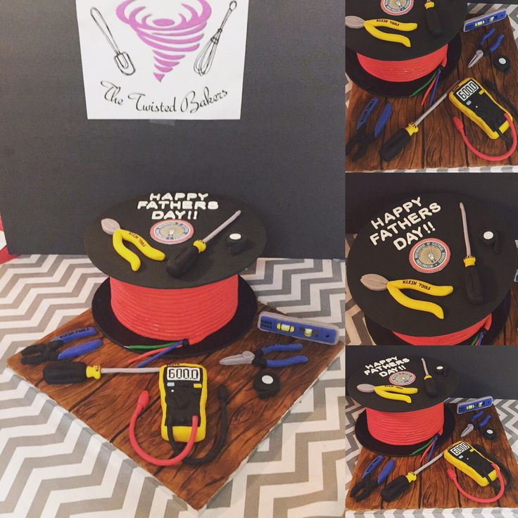 Electrician Father's Day cake