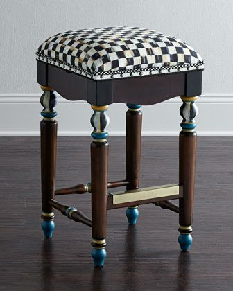 Courtly Check Barstool by MacKenzie-Childs at Neiman Marcus.