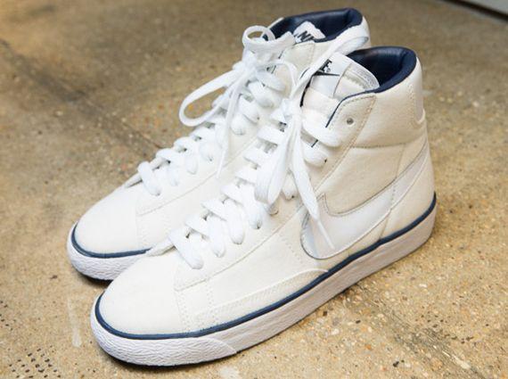 blazer nike apc 2014 white navy A.P.C. x Nike Blazer Spring/Summer 2014