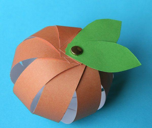 Les 25 meilleures id es de la cat gorie citrouille en papier sur pinterest cr ation de cartes - Citrouille halloween en papier ...