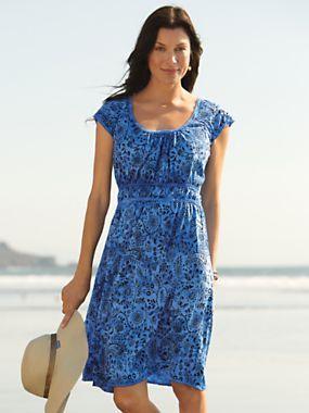 Women's Chic Batik Dress | Sahalie
