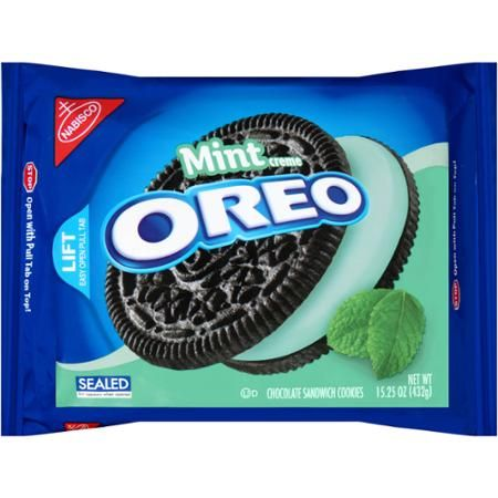 Nabisco Oreo Mint Creme Chocolate Sandwich Cookies, 15.25 oz