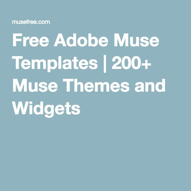 Free Adobe Muse Templates | 200+ Muse Themes and Widgets