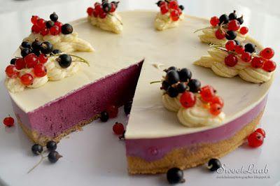 Unbaked black currant tart / Nepečená torta z čiernych ríbezlí / Tarte aux cassis