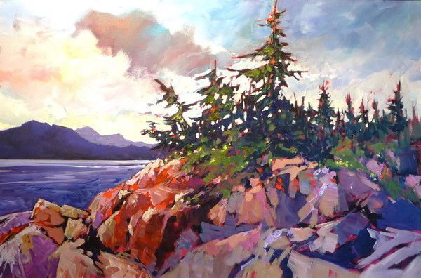 Afternoon at Elbow Falls - Perry Haddock