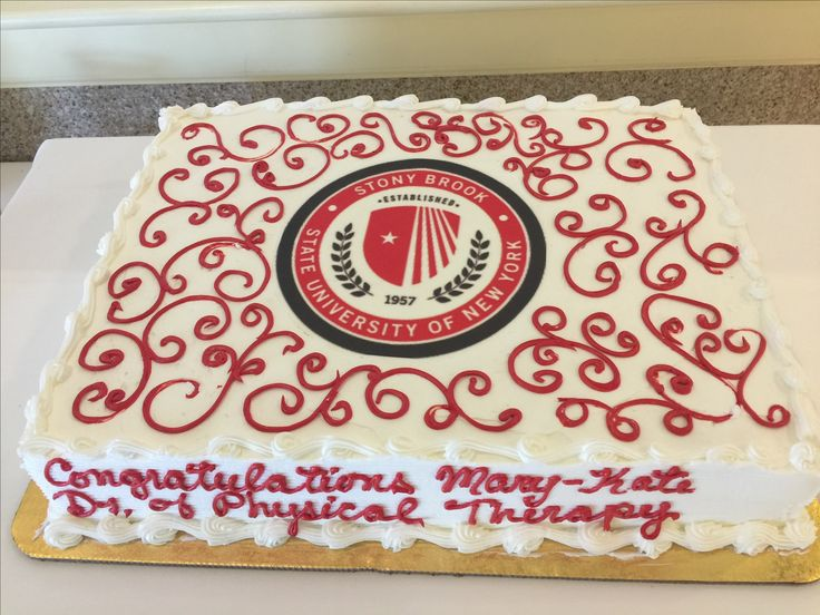 Doctor of Physical Therapy cake for graduation