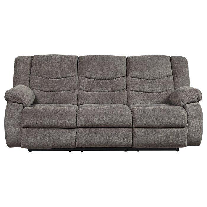 Drennan Reclining 87 Pillow Top Arms Sofa Reclining Sofa Grey