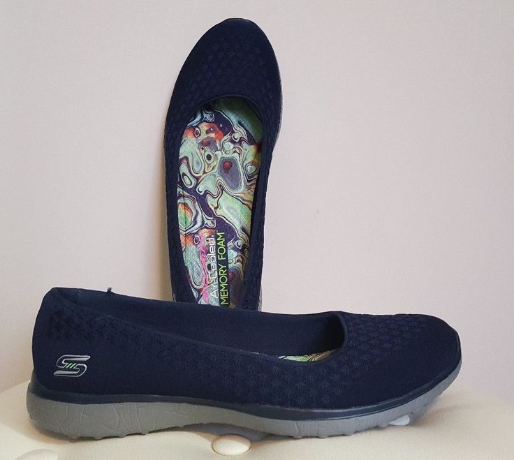 Skechers Microburst One Up Ballerina Pumps / Shoes, 7/40, Navy, NEW #Skechers #Ballerinas #Casual