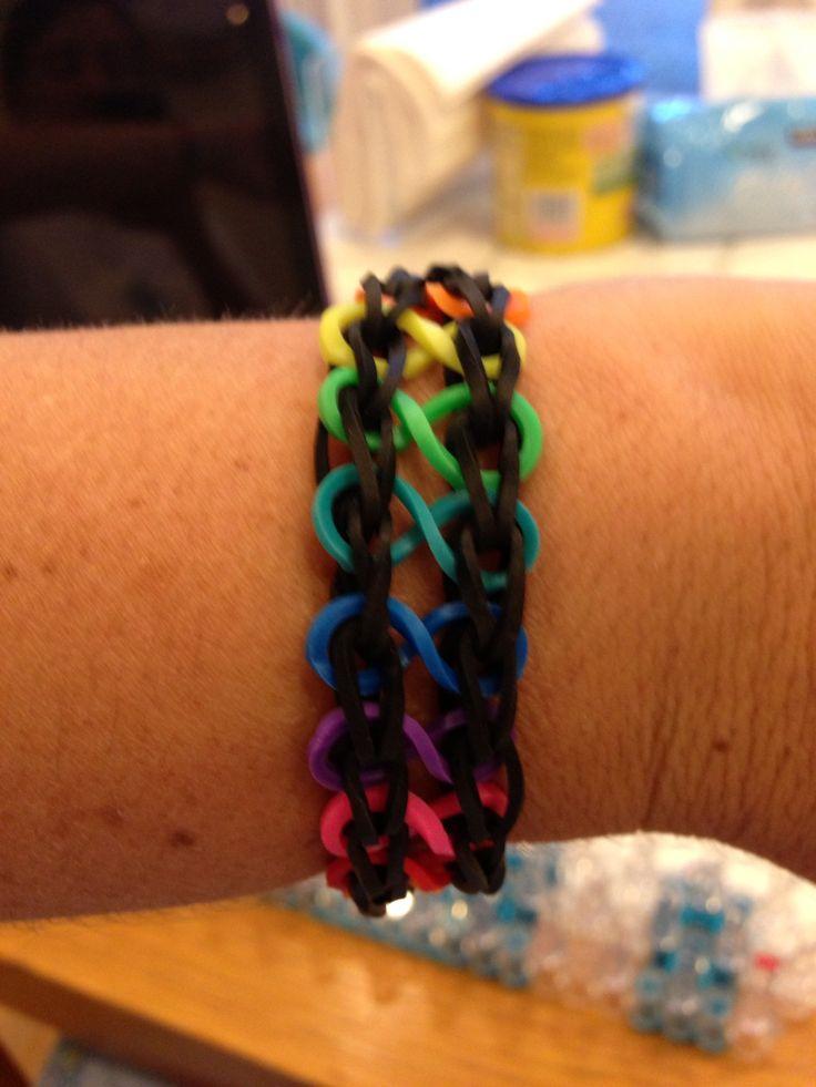 infinity rainbow loom!!