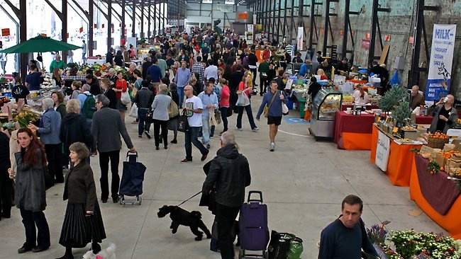 Tony Bilson, Kylie Kwong, Jollie Treats.. its all happening at Eveleigh Market this morning.