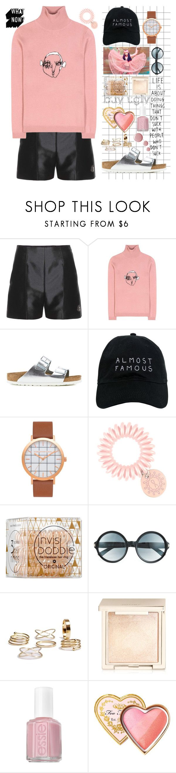 """""""Buy ugly shoes"""" by bartivana ❤ liked on Polyvore featuring Moncler Gamme Rouge, Shrimps, Birkenstock, Nasaseasons, STELLA McCARTNEY, Invisibobble, Tom Ford, Jouer, Essie and Too Faced Cosmetics"""