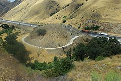 A section of U.S. Route 99 in Lebec, California, abandoned when Interstate 5 was constructed over the Tejon Pass.