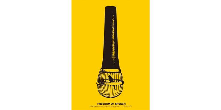 Jocelyn Blanchard, Your own enemy - A Freedom of ... |Freedom Of Speech Poster Ideas