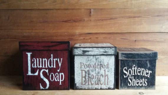 Laundry Room / Organizer / Storage / by CandleCreekCottage on Etsy