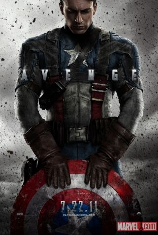 New Captain America poster — and first high-res shot of Cap's full costume!