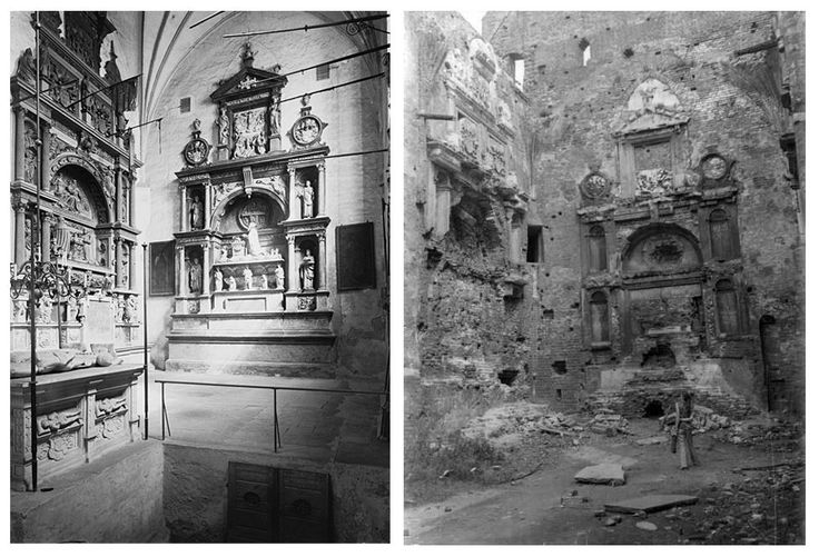 Königsberg Cathedral. The tomb of Albert, Duke of Prussia. Comparison: 1907 and 1974.