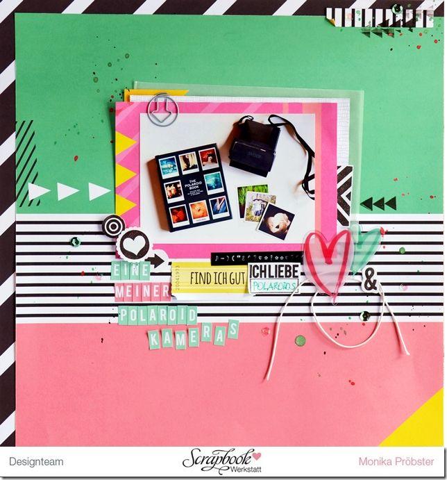 *Imagicallery*: {Scrapbooking} Polaroidkamera-Liebe (mit Frida) Layout von Monika  #sbw #scrapbookwerkstatt #jannawerner #sbwdesignteam #frida