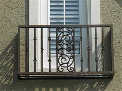 Faux iron balcony