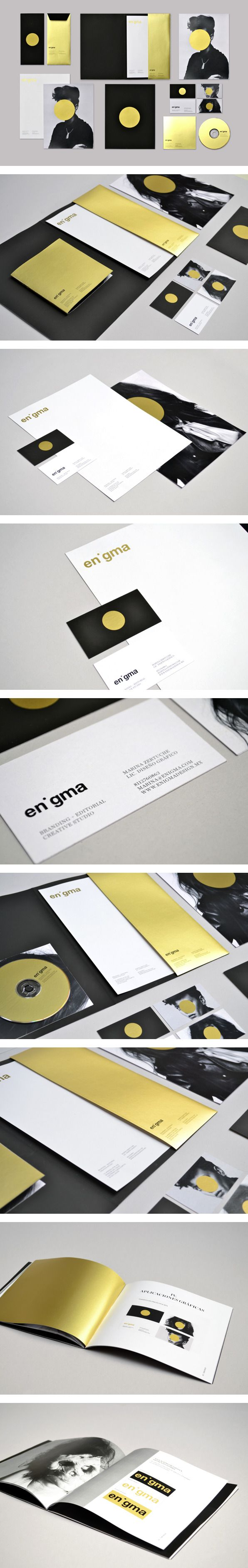 Enigma Personal Identity by Marina Zertuche | #stationary #corporate #design #corporatedesign #identity #branding #marketing < repinned by www.BlickeDeeler.de | Take a look at www.LogoGestaltung-Hamburg.de