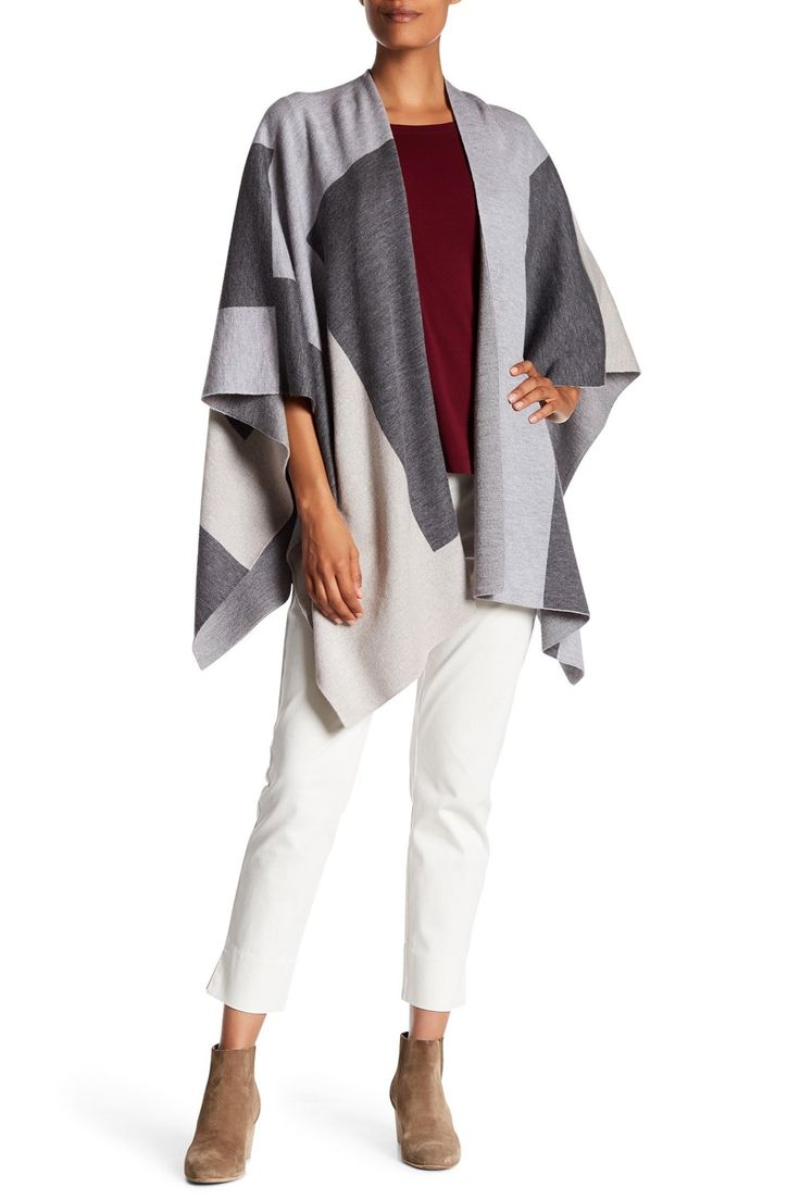 wrap gallery nordstrom front clothing previously at regular white eileen petite s vest lyst women fisher rack in long sold