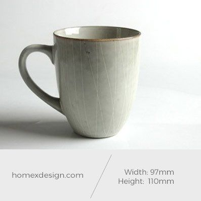 Ceramic M coffee cup (set of 5)