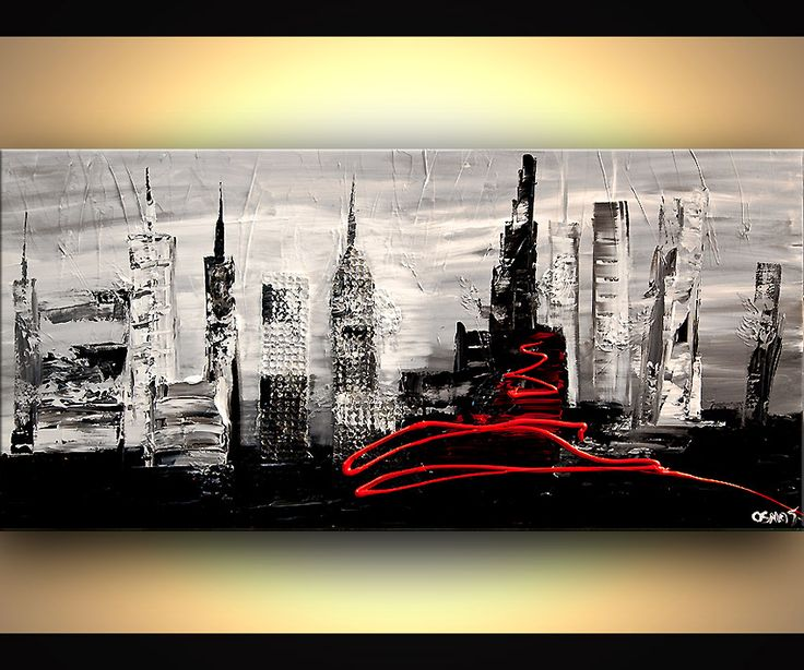 Cityscape Painting - The City #6360
