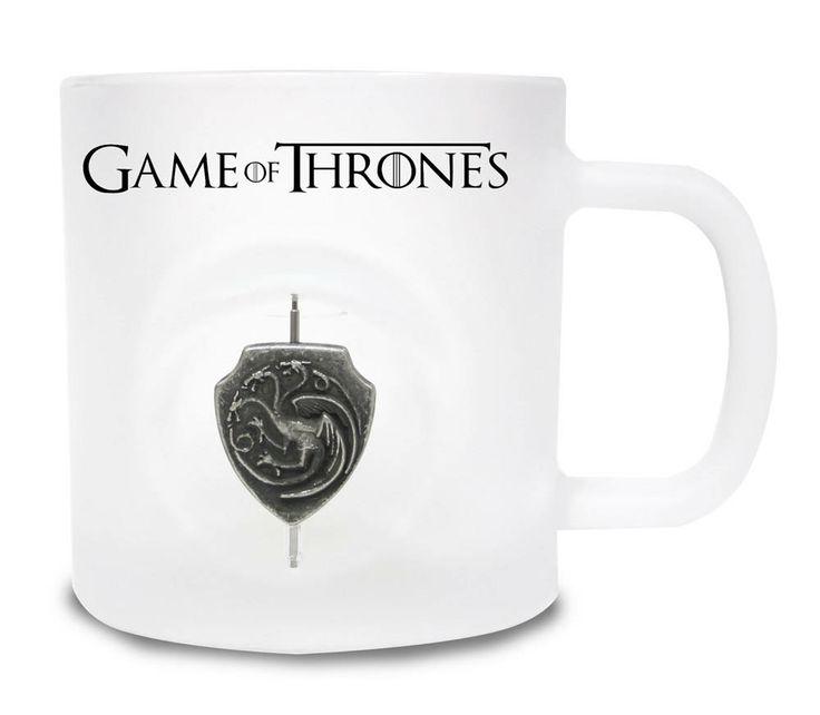 Taza Logo casa Targaryen 3D rotatorio. Juego de Tronos Estupenda y original esta taza con el logo rotatorio fabricado en estaño de la casa Targaryen, 100% oficial y licenciada, fabricada en material de primera calidad, cerámica. Ideal para regalar.