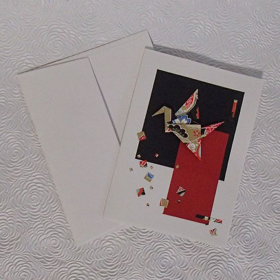 Greeting Card  for all Occasion-Origami Crane and by OrijujuShop