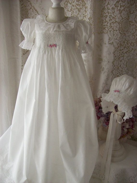 Handsmocked and Hand embroidered by decidedlyromantic on Etsy, $980.00