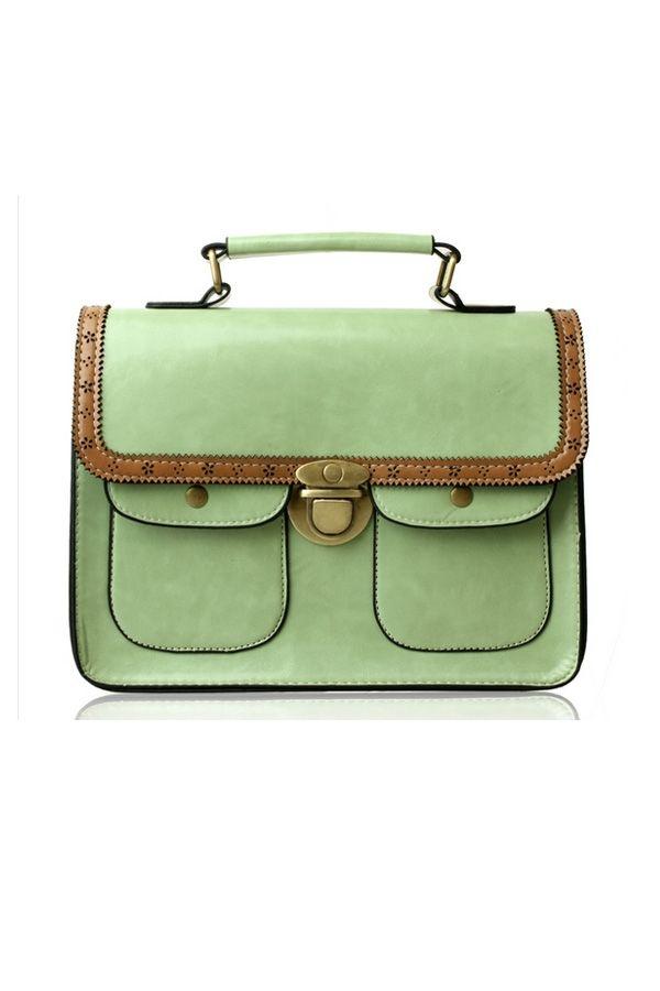 Candy Color Messenger Bag - OASAP.com