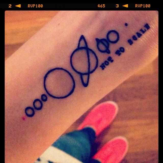 Solar system tattoo | Tattoo ideas | Pinterest ...