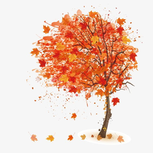 Cartoon Tree Illustration Background Autumn Trees Background Pattern Fashion Background Png And Vector With Transparent Background For Free Download Cartoon Trees Tree Illustration Autumn Trees