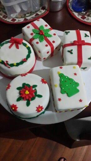 Mini cake navidad