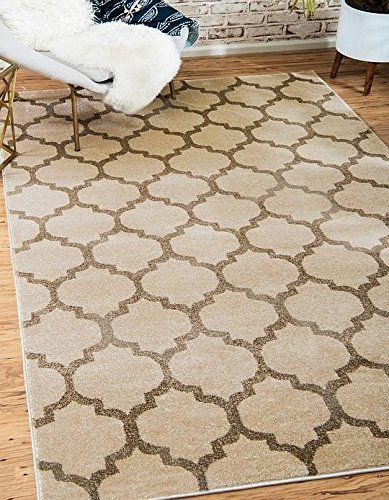 Unique Loom Trellis Collection Beige 12 X 16 Area Rug 12 2 X 16