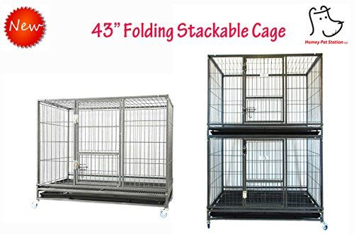 Homey Pet 43 Stackable or Non-Stackable Heavy Duty Cage W/ Feeding Door Casters and Tray (Stackable Economic) For Sale https://dogcratesandkennelsreviews.info/homey-pet-43-stackable-or-non-stackable-heavy-duty-cage-w-feeding-door-casters-and-tray-stackable-economic-for-sale/