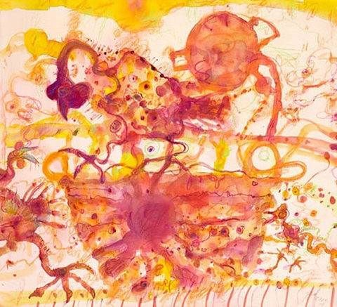 "JOHN OLSEN ""Coq au Vin"" Limited Edition Giclee, Signed, 18/40, FRAMED Auction (0071-2302669)   GraysOnline Australia"