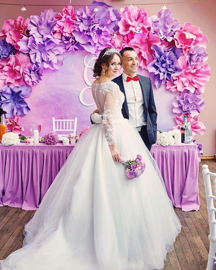 330 отметок «Нравится», 8 комментариев — Студия декора и флористики (@perlamutrstudio) в Instagram: «Показываем и рассказываем  Это была акварельная свадьба Алёны и Сергея, которая состоялась 18…»