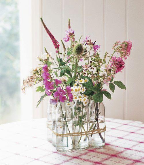 BOTTLES :: DIY Glass Bottle Vase :: Mason Jar Crafts - Ideas for Mason Jar Projects @ Country Living