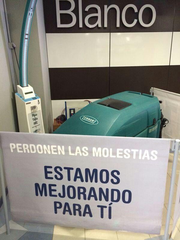 Fregadora Tennant 5680 en Centro Comercial La Marina en Alicante