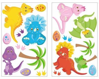 New  teiliges Dinosaurier Wandtattoo Set Dinosaurier Wandaufkleber Set Wandtattoo KinderzimmerDinosaurier