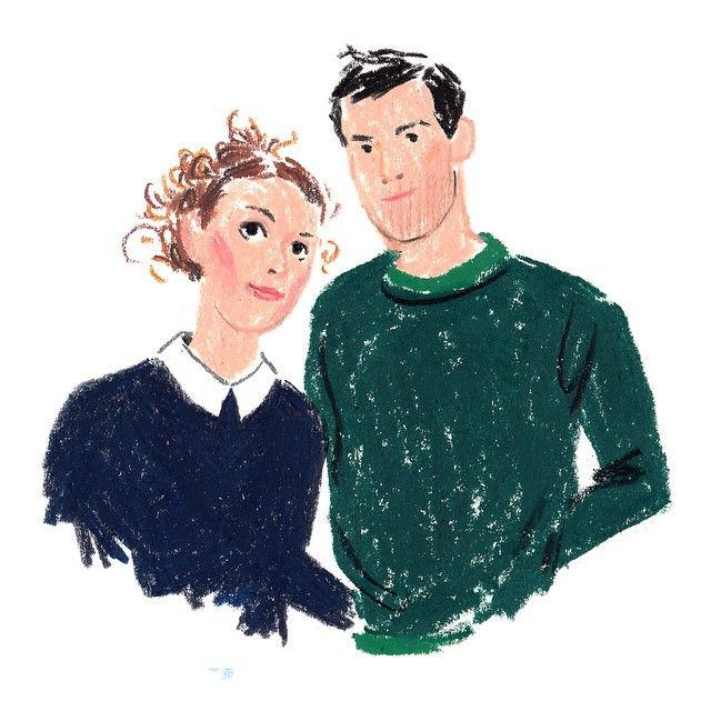 Yael & Shay sketched by Damien Florébert Cuypers for Mutina website (link in…