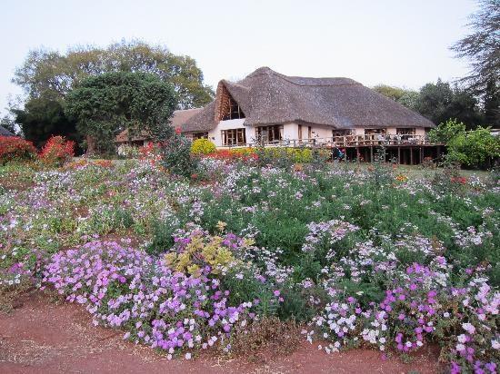 Ngorongoro Farm House, Tanzania: Dinner hall and deck