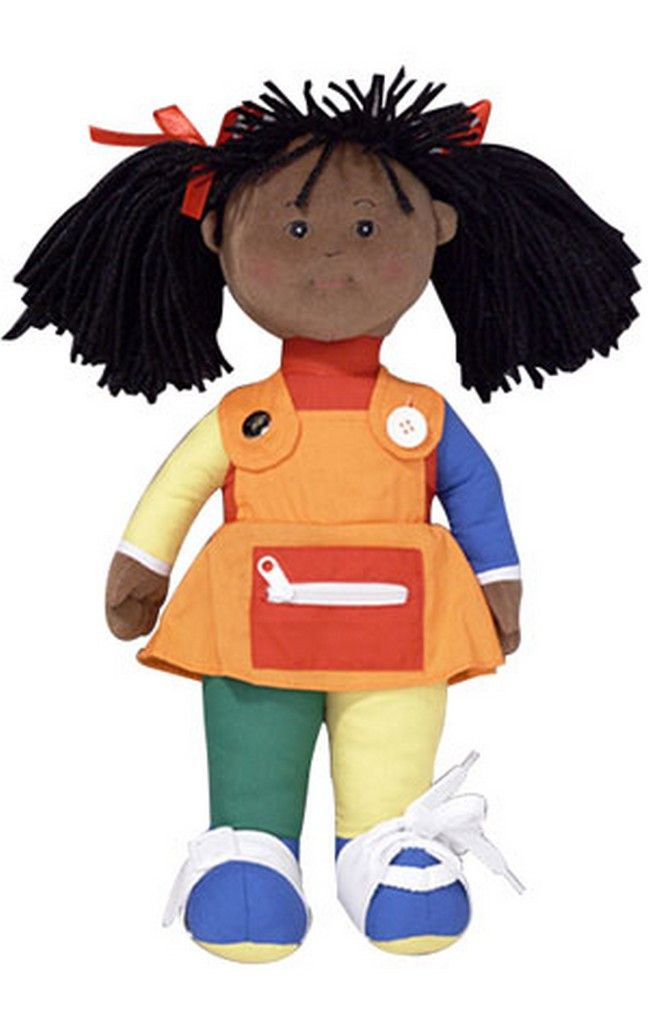 Learn to Dress African American Girl - Poly bag