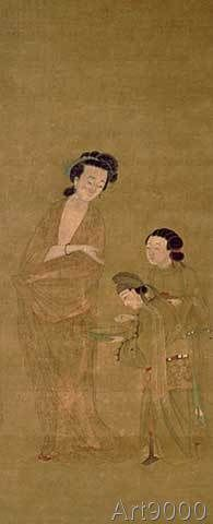 Chinesische Malerei - The Favourite Yang/Ming/Silk painting